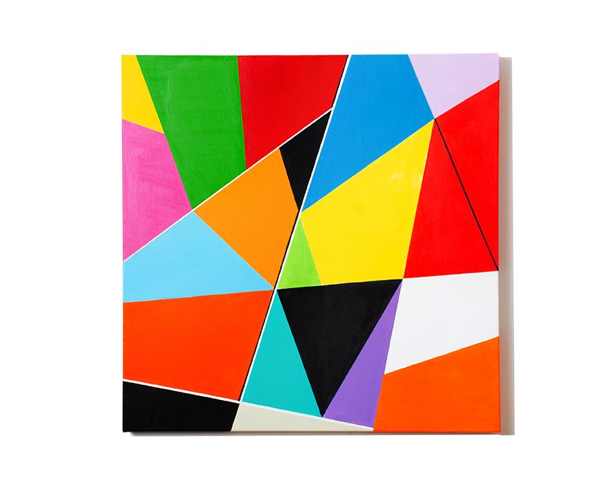 Shapes and Colors #5 Medium Acrylic on Canvas Size 24 x 24 x 1.5
