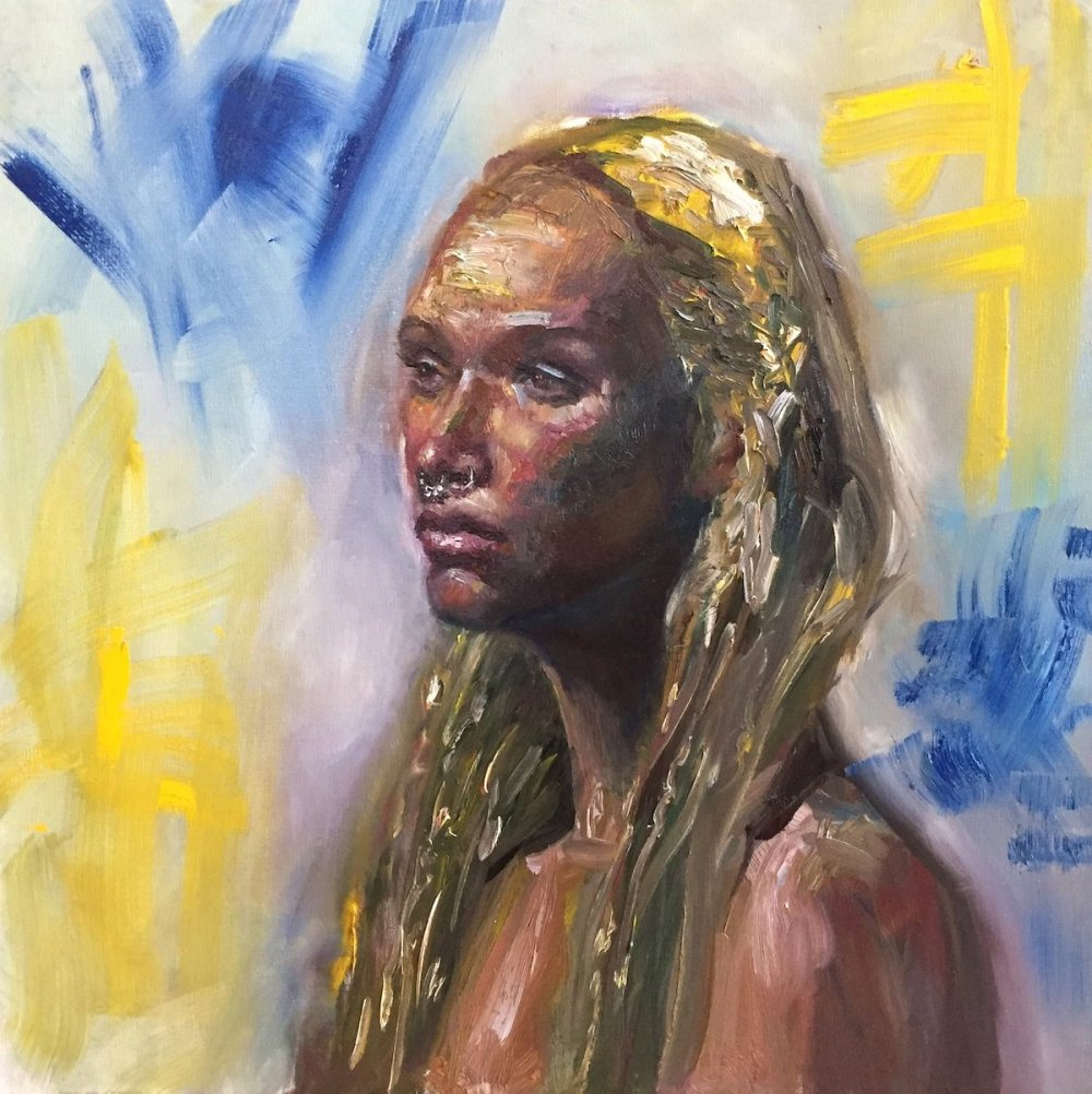 "Dreamer Medium Oil on Canvas Size 24"" x 24"""