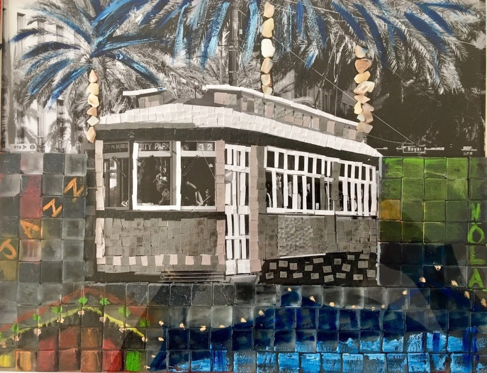 New Orleans Medium Mixed Media Size 16 by 24