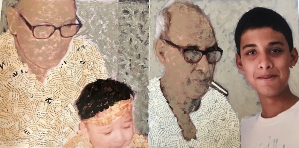 ime with Gramps Medium Mixed Media Size 12 by 14