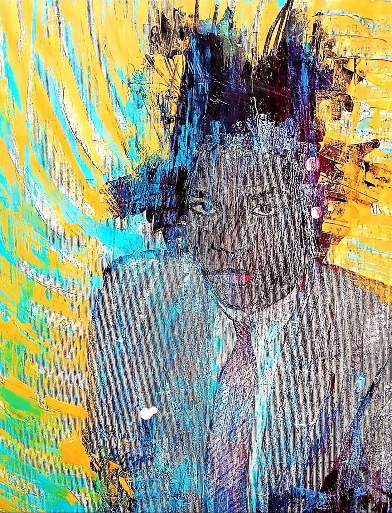 Jean Michel Basquiat Medium Mixed Media Size 150cm x 100cm