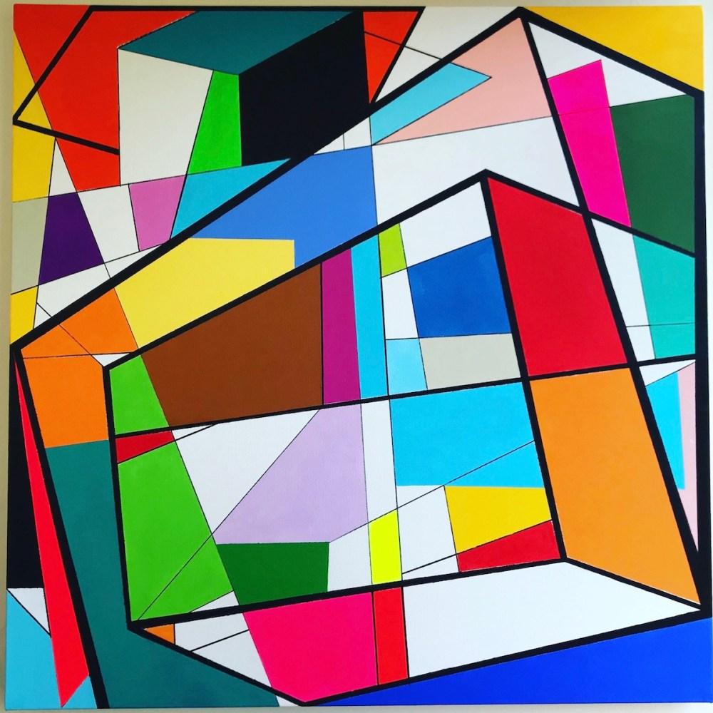 Adventures In Geometry #1   Acrylic on Canvas   36 x 36 x 1.5