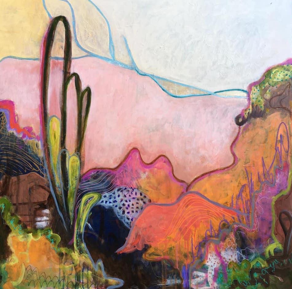 Sunrise | Acrylic and Oil on Canvas | 36 x 36