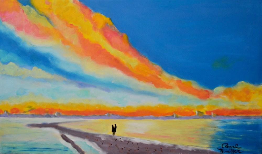 Sunset Stroll | Oil | 18x30