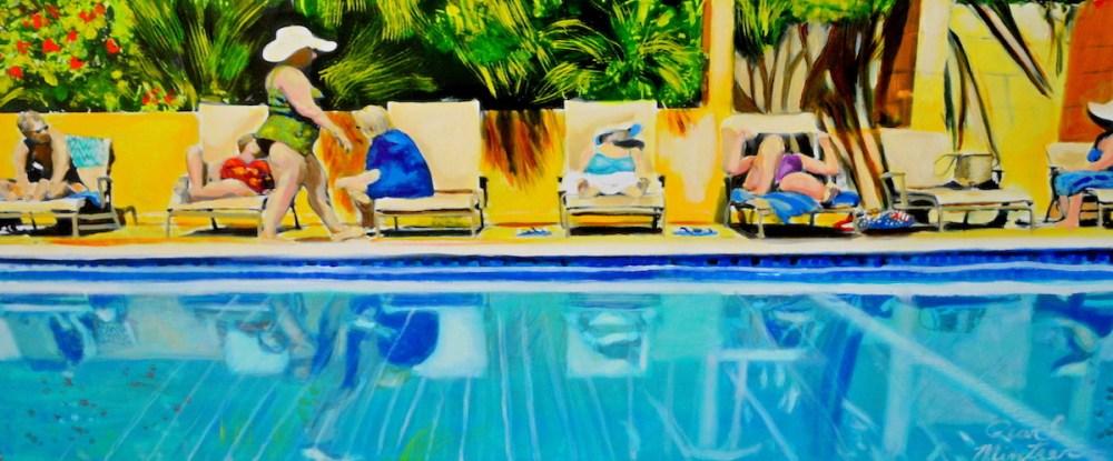 Bathing Beauties | Oil | 18x40