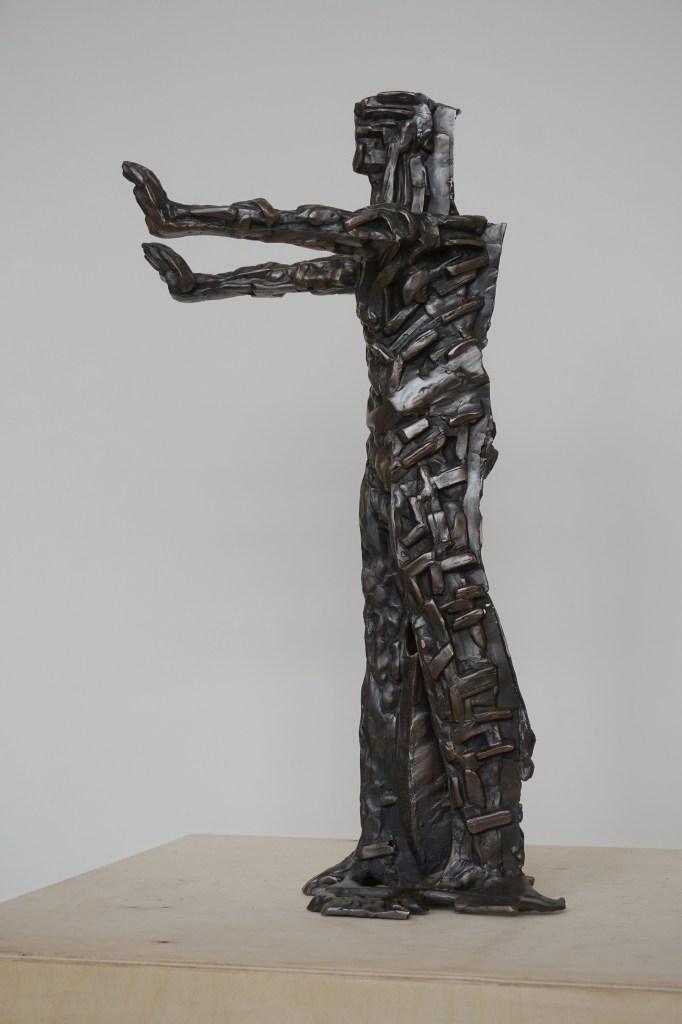 Tactile Sensation of the Insuperable Space | bronze | 63 (h)x15x37 cm