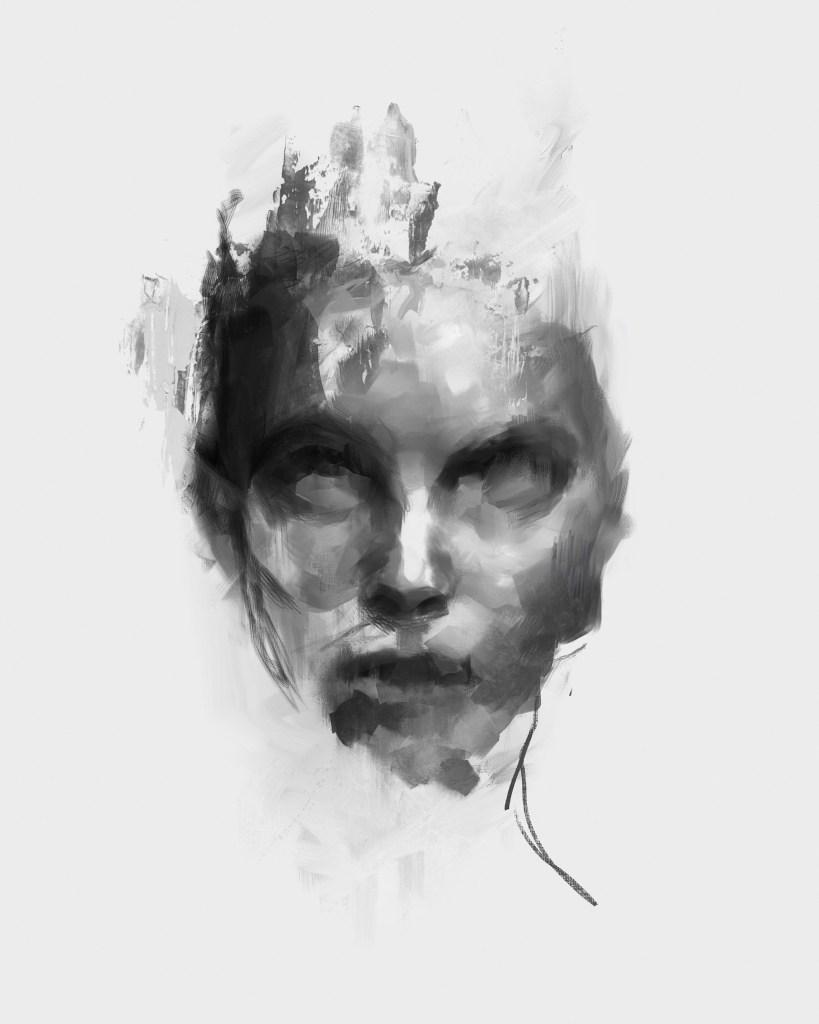 Improvisation 7.21.20 | digital painting, acrylic paint, digital composition | 20x16in.