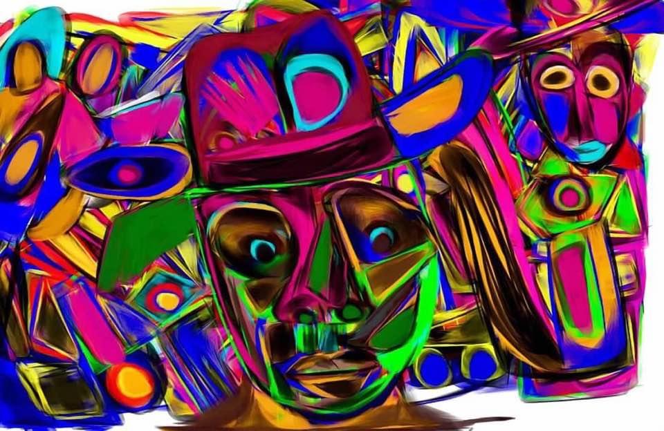Mad Hatter   Digit Art   8x10