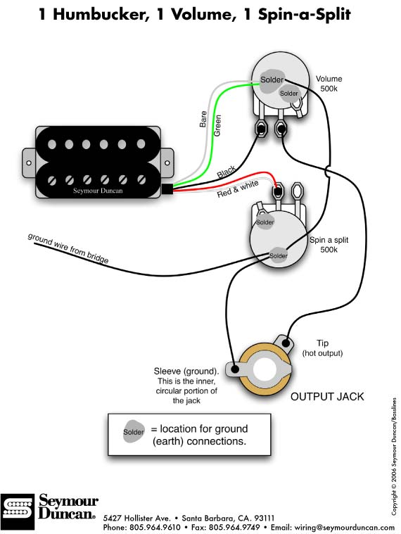 guitar output jack wiring diagram ethanol phase index of a pu humbucker images