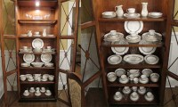 how to display china in a cabinet