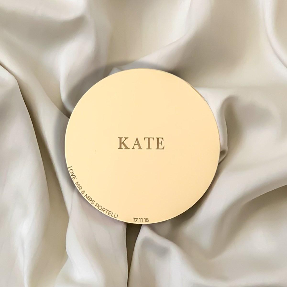 Lustre Gold Mirror Acrylic Coaster