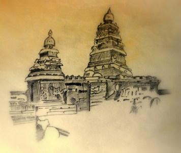 Sketch of Mahabalipuram