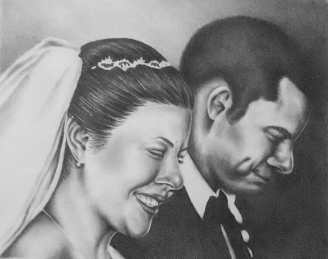 """""""I Do"""" 16""""x20"""", Pencil on Paper, SOLD"""