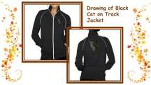 Warm, chic, and adorable - this jacket featuring a drawing of a black cat is the perfect wearable cat art for cat lovers. http://www.zazzle.com/drawing_of_black_cat_on_jacket-235984732585049512