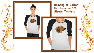 Don't worry! This Golden Retriever has your back and will keep you warm! http://www.zazzle.com/drawing_of_golden_retriever_on_3_4_sleeve_t_shirts-235981771626834599
