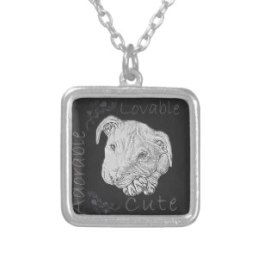 Chalk Drawing of Pitbull on Necklace http://www.zazzle.com/chalk_drawing_of_pitbull_personalized_necklace-177615386157086399