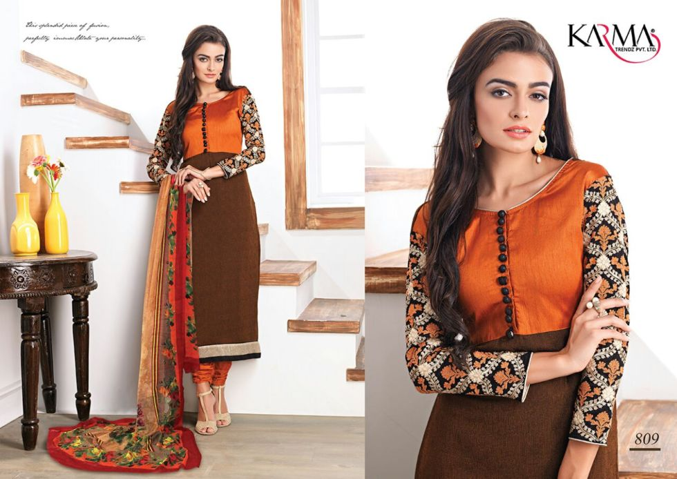 Karma Trends Fusion Salwar Suits