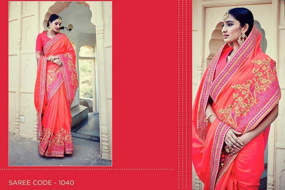 Kimora Sunehri Heavy Embroidery Sarees KS1040