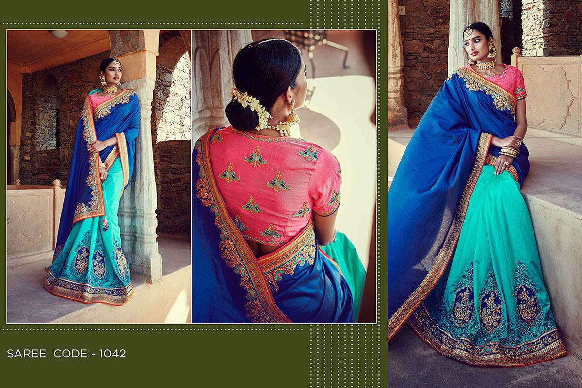 Kimora Sunehri v3 Heavy Embroidery Sarees KS1042