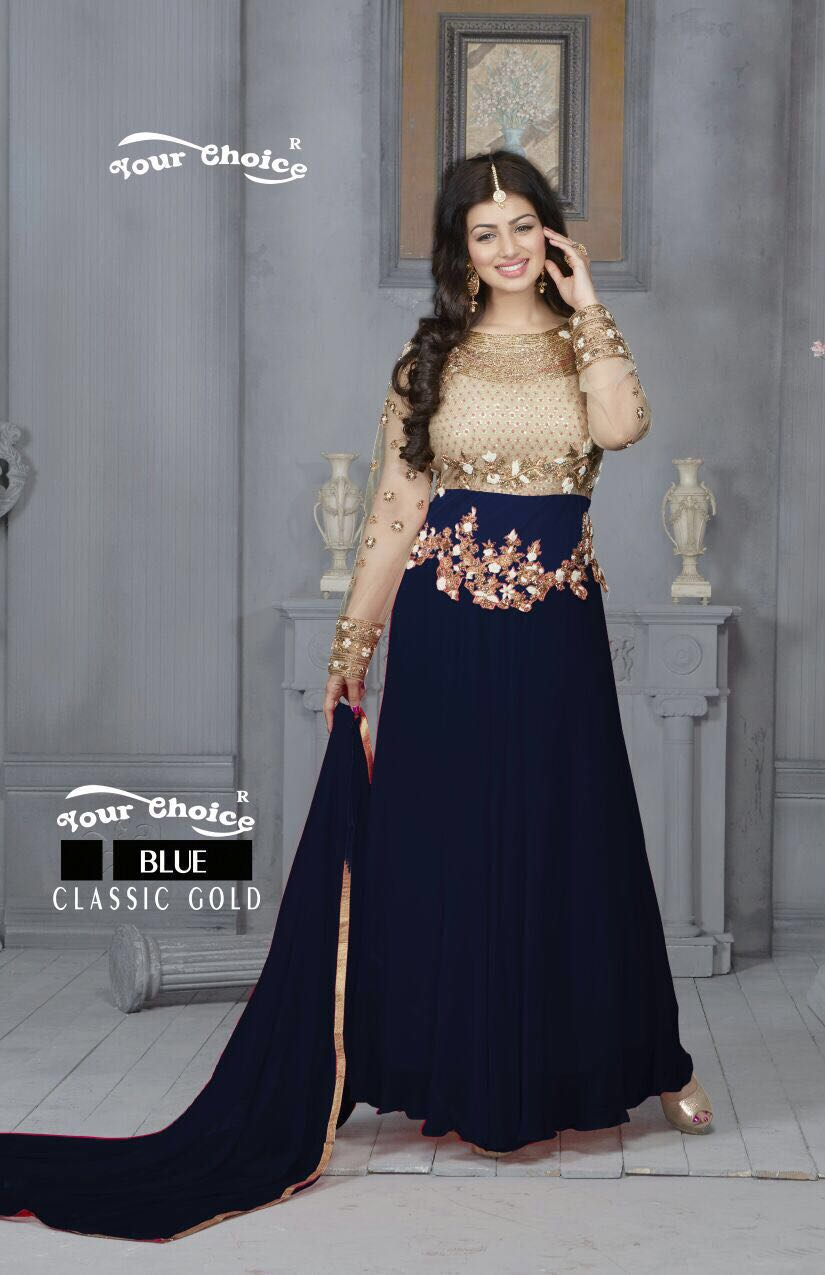 Ayesha Takia in Blue Floor Length Anarkali suit