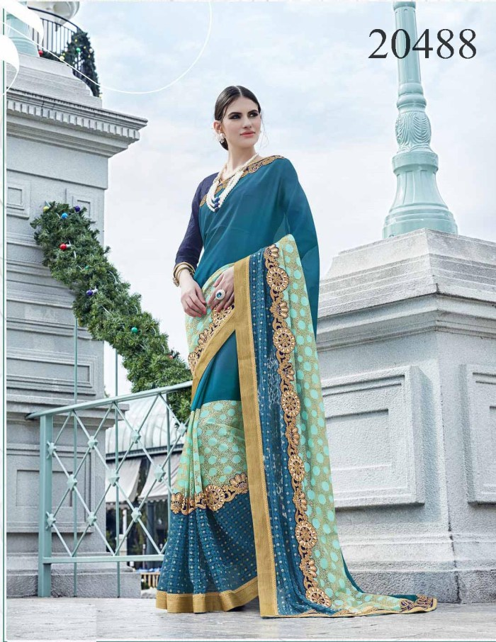 Embroidered Border Saree Noopur 20488