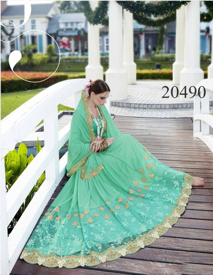 Embroidered Border Saree Noopur 20490