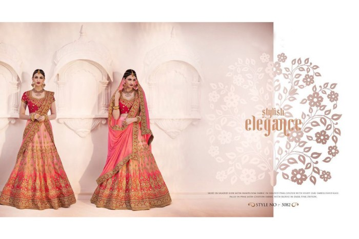 Nakkashi Ethnic v2 Lehenga Saree 5082 | Brides Wear