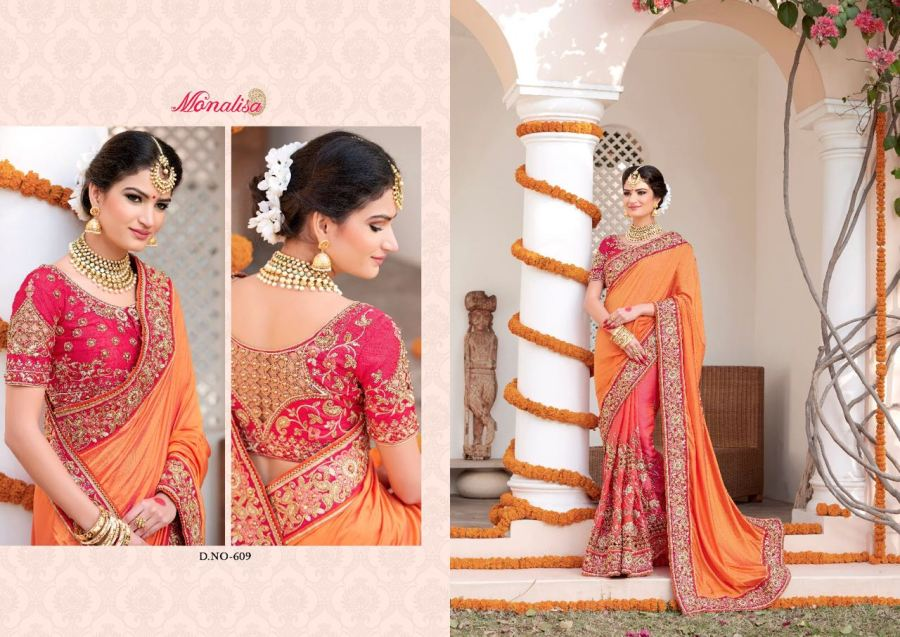 Monalisa v6 Bridal Sarees MM609 | Bridal Wear for LadiesShop Online Monalisa v6 Bridal Sarees MM609 @ArtistryC | Best Price: Rs 6645 or $ 111 | Free shipping in India - International shipping
