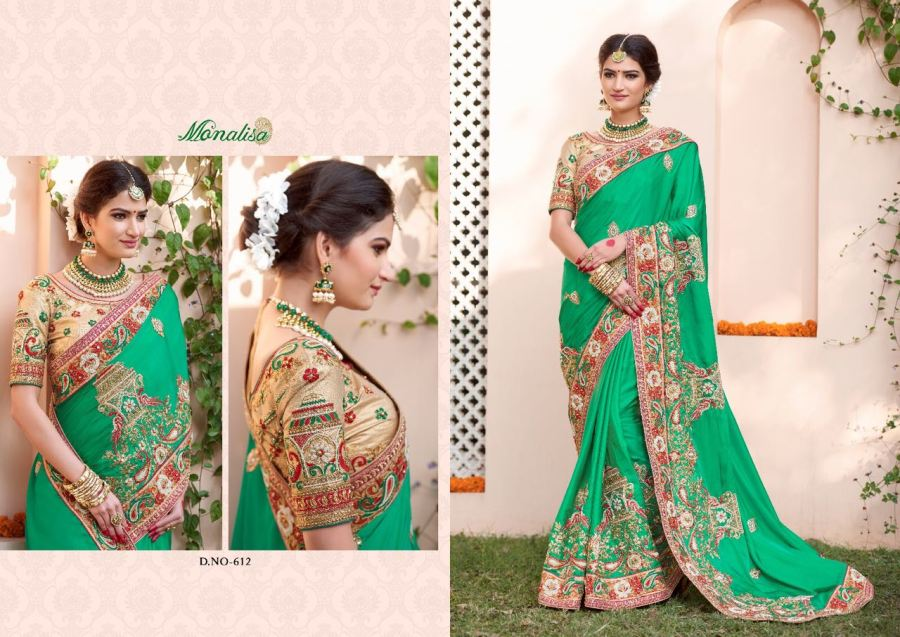 Monalisa v6 Bridal Sarees MM612 | Bridal Wear for LadiesShop Online Monalisa v6 Bridal Sarees MM612 @ArtistryC | Best Price: Rs 7347 or $ 122 | Free shipping in India - International shipping