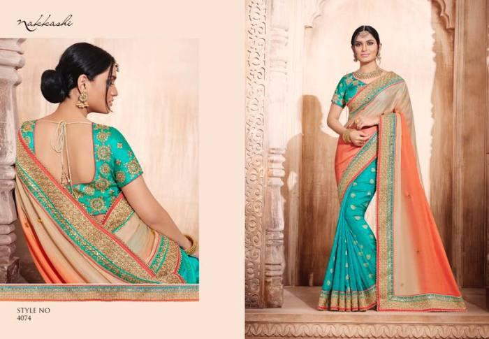 Nakkashi Elegance Euphony Designer Saree 4074 | Party Wear for LadiesShop Online Nakkashi Elegance Euphony Designer Saree 4074 @ArtistryC | Best Price: Rs 4525 or $ 75 | Free shipping in India - International shipping
