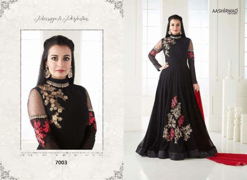 Dia Mirza Floor Length Suit vol 7 by Aashirwaad Creation