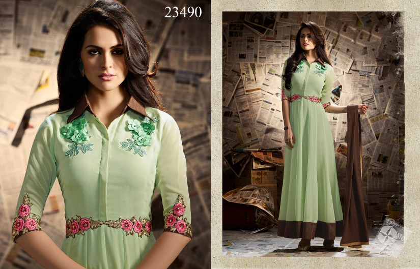 Mugdha Ethnic Touch Designer Party Wear Dresses 23490