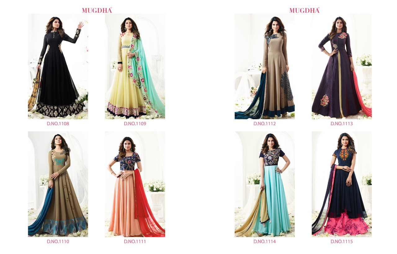 Shop Jennifer in Mugdha Designer Anarkali Suits Online