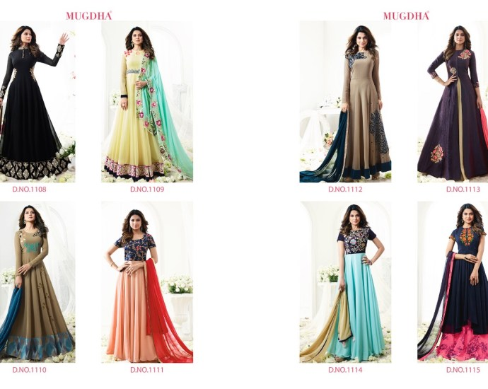 Mugdha Designer Anarkali Suits=