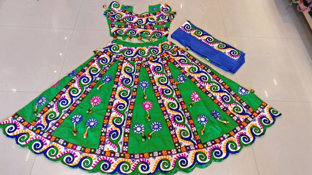 Kutchi Traditional Gamthi work Chaniya Choli Style A 03