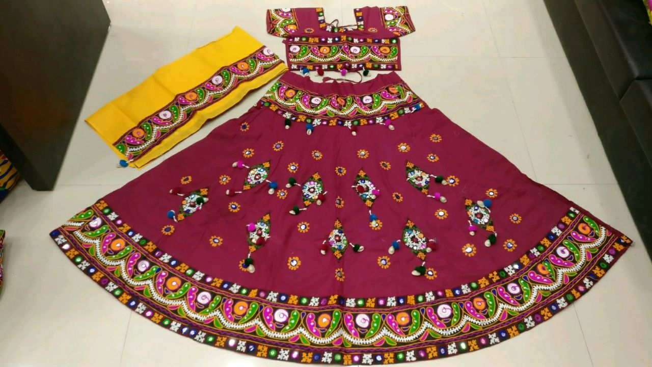 Kutchi Traditional Gamthi work Chaniya Choli Style D