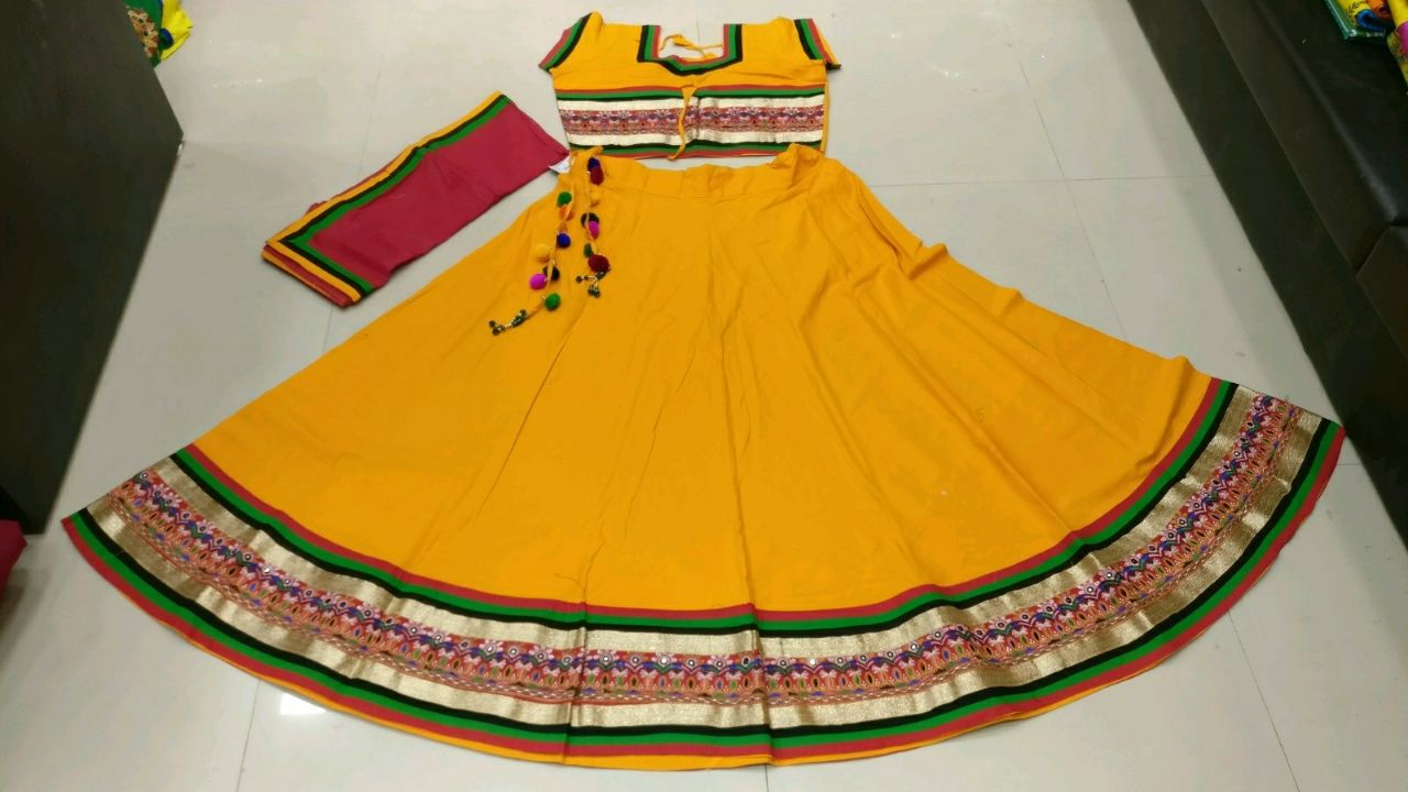 Kutchi Traditional Gamthi work Chaniya Choli Style E
