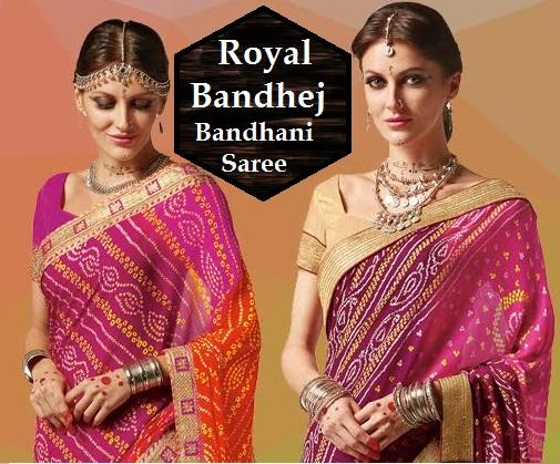 Shop Royal Bandhej Bandhani Saree Online