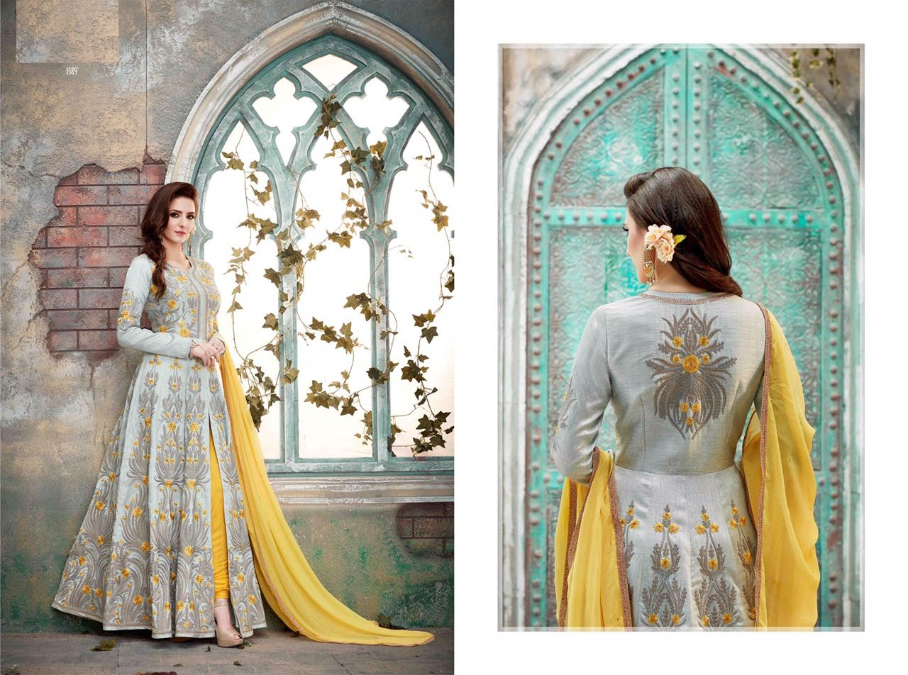Royal Vintage Floor Length Anarkali Suits 1589