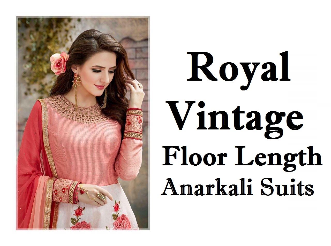Royal Vintage Floor Length Anarkali Suits Online