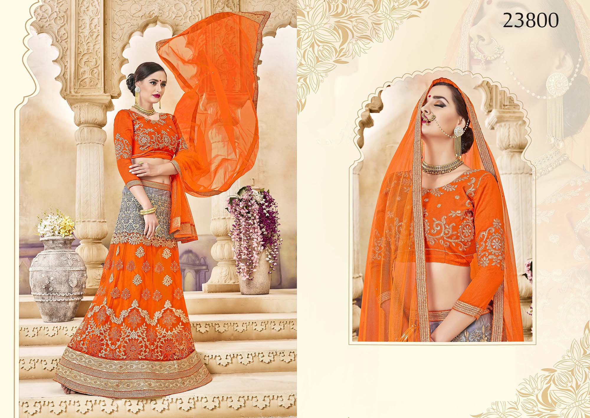 Royal bridal wear lehenga Irish 23800
