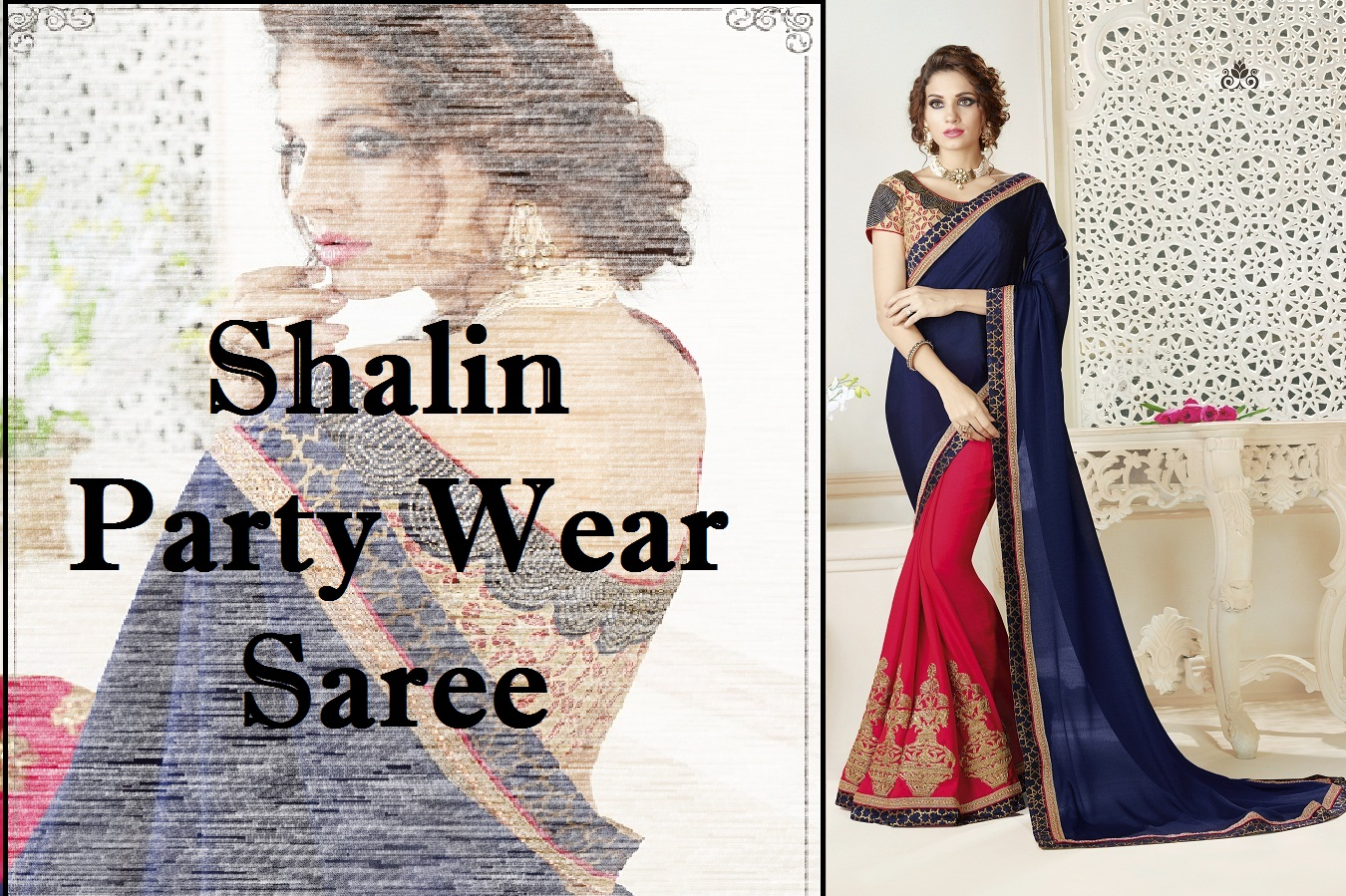 Shop Shalin Party Wear Saree Online