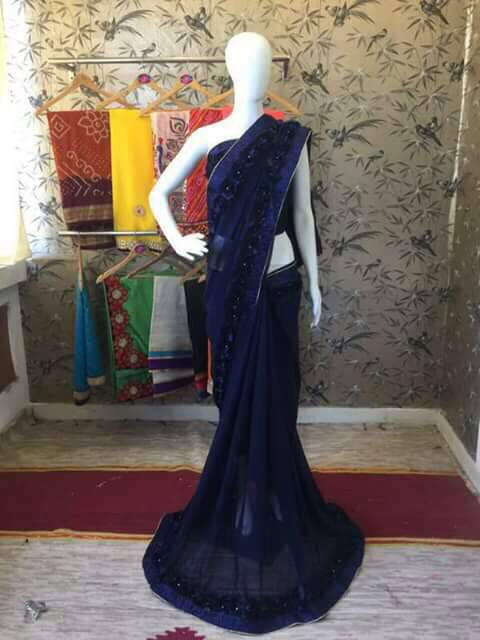 Ribbon Work Sarees