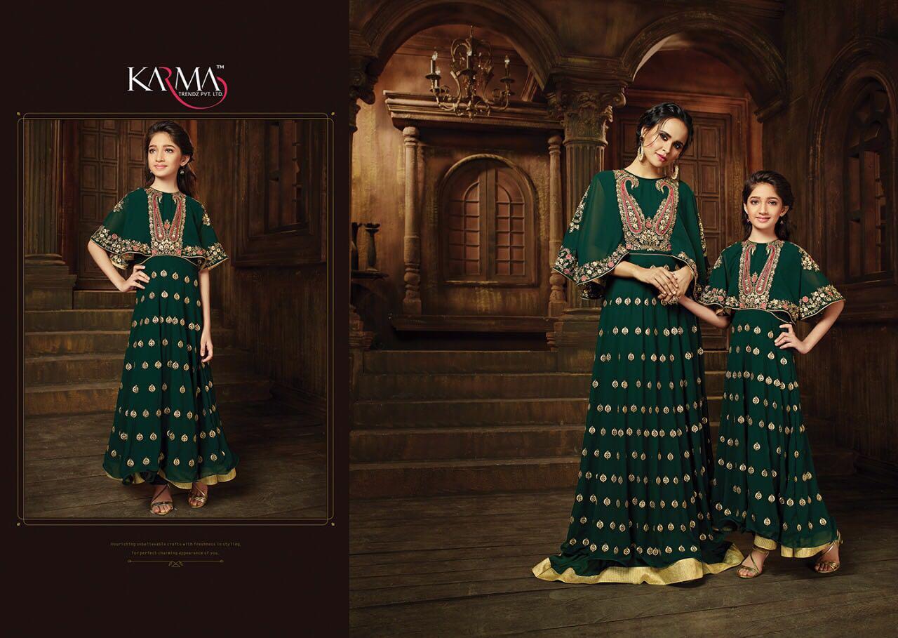 Karma Mother & Daughter Designer Salwar Suits