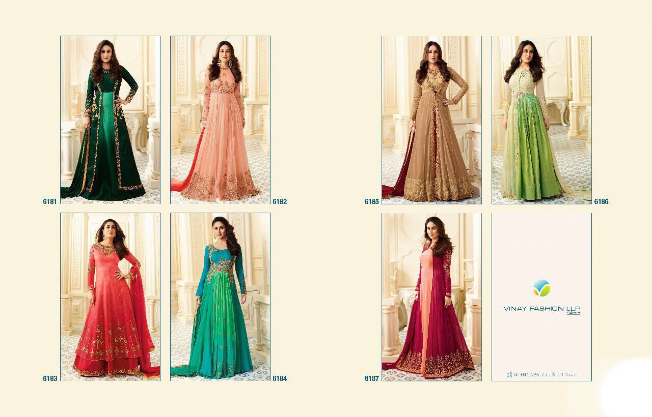 Kaseesh Kareena 2 Designer Suits by Vinay Suits 6182
