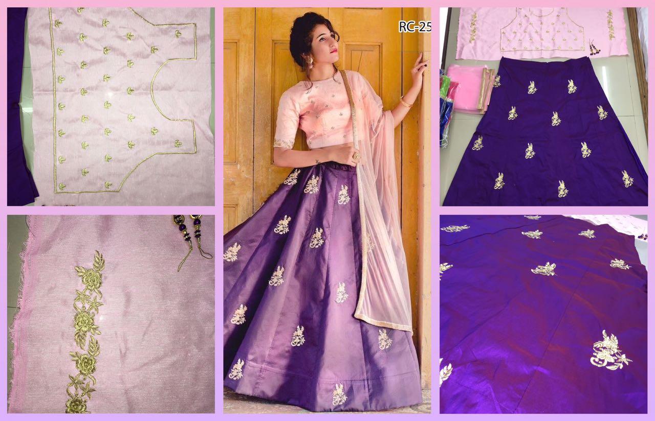 Amazing shining Purple Pink Lehenga Blouse RC 25