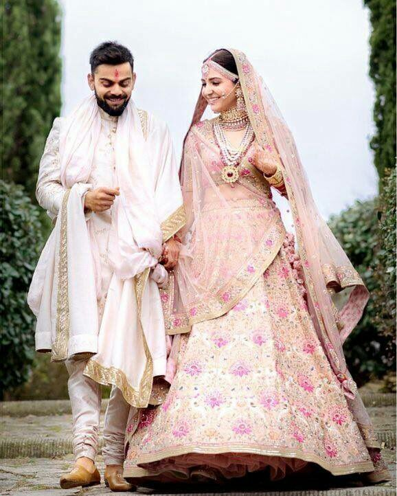 Shop Anushka Sharma Wedding Lehenga Replica Online