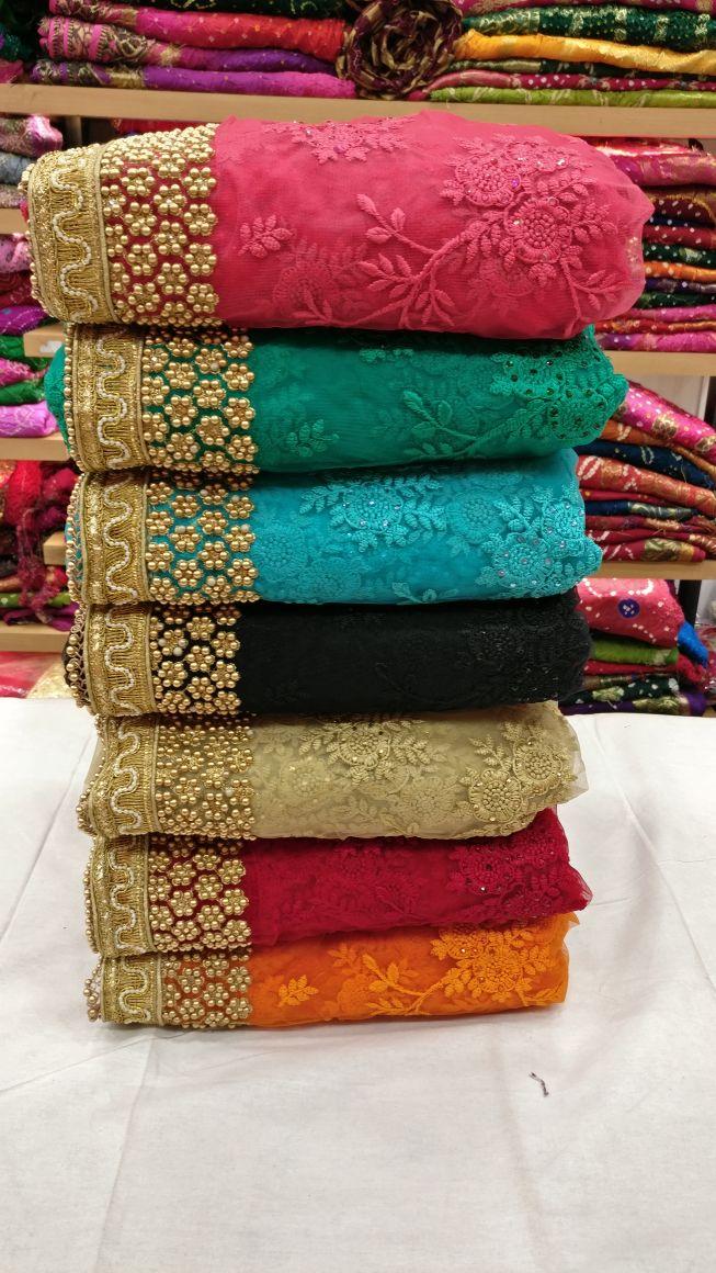Shop Designer Heavy Thread Embroidery Work Party Wear Saree Online