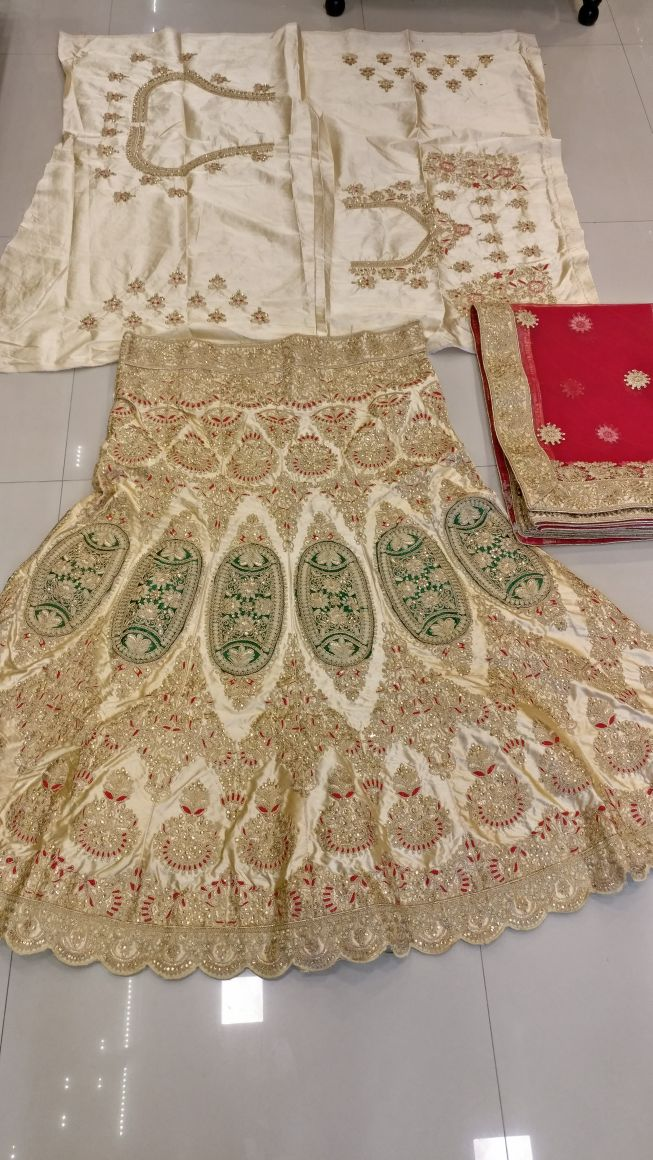 Shop Heavy Kasab Thread Embroidery Work Bridal Chaniya Choli Online