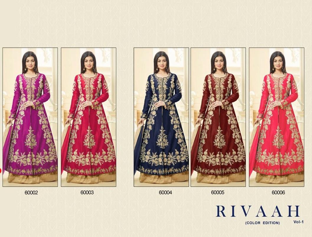 Hit Design in Colors Rivaah Lehenga Suits Volume 1